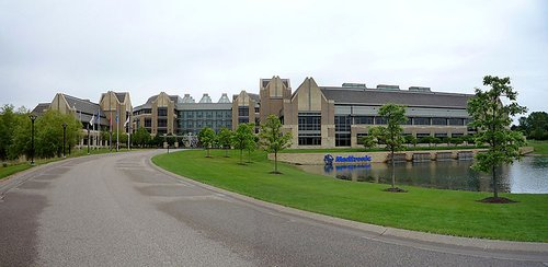 Global headquarter offices of Medtronic, located in Fridley Minnesota. Medtroni